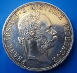 Австро - Венгрия 2 флорина ( гульдена ) 1885 г. серебро AU+ photo 3