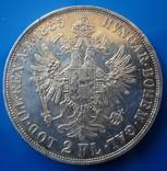 Австро - Венгрия 2 флорина ( гульдена ) 1885 г. серебро AU+ photo 4
