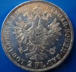 Австро - Венгрия 2 флорина ( гульдена ) 1885 г. серебро AU+ photo 6