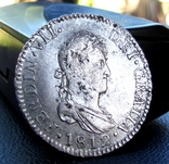 2 Реала 1812 р. Фердинанд 8 Іспанія photo 1