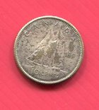 Канада 10 центов 1961 Парусник, фото №2
