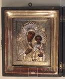 Икона Божией Матери Одигитрия Смоленская , оклад серебро 84