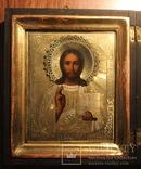 Икона Спас ( Господь Вседержитель) , оклад - серебро 84