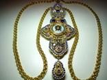 Крест архимандрита (серебро, позолота, цирконий)