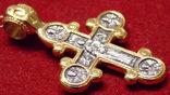 Крест Православный Распятие - Богоматерь Серебро с позолотой