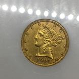 Золотая монета. 5 долларов США 1901 год