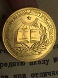 Золотая школьная медаль грузия 32 мм + диплом photo 4