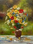 Букет полевых цветов, худ.Высочинская Т.Г., 30х40 см, масло