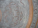 Старинный Большой Арабский рaзнос , стол ( Ручная работа ) вес 4,1 кг photo 6