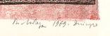 Володимир Лобода. Наша кімната. 1969 р. Лінорит. 33х21,8; лист 42,1х30,3 photo 3
