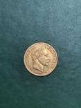 Золотая монета 10 Франков Наполеона III