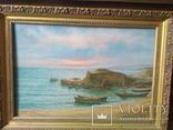 Картина худ.Е.Ревелиоти Море (морской пейзаж) 1997г. photo 3