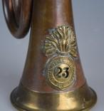 Старая военная Сигнальная Труба Горн Рог Фанфара photo 2