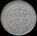 2 крони 1921 року 400 років війні за Незалежність Швеції, срібло 15 г