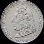 2 шилінги 1936 року, Австрія. Пам'яті Принца Євгенія Савойського, срібло 12 г photo 2