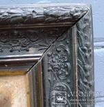 """Старинная картина в рамке """"Украиночка с зеркальцем"""" подписная. photo 5"""