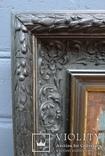 """Старинная картина в рамке """"Украиночка с зеркальцем"""" подписная. photo 6"""