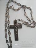 Наградной наперсный «Павловский» крест Серебро 84 проба photo 1