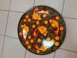Настенное красивое расписное блюдо. Диам.50см., фото №9