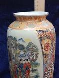 Интерьерная высокая китайская ваза в росписи., фото №3