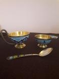 Комплект изделий для кофе из серебра 916 пробы