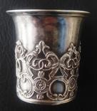 1849 Рюмка. Серебро, 84 пр., 41гр., Н-5,5см photo 1