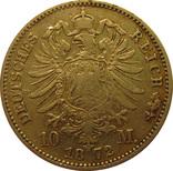 10 марок 1872р Германська імперія photo 3
