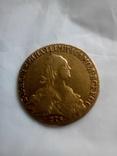 10 рублей 1774 года - золотой червонец Екатерины II photo 1