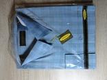 Мужская рубашка Vincenzo (зелено-голубая клетка)(45)