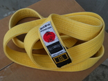 Желтый пояс для кимоно. photo 1