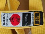 Желтый пояс для кимоно. photo 2
