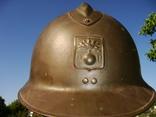 Каска Адриана 1926 года, кокарда французской гражданской обороны