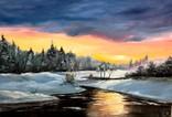 Зимний закат .70х50 Шаркади Н