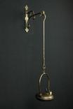 Старая подвесная керосиновая лампа. Светильник. Бронза. Винтаж. Европа. (0294)