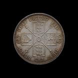 Двойной Флорин 1887, Великобритания Цифра 1 Римская
