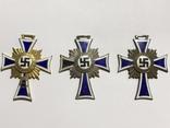 Почетный крест немецкой матери 1938 все 3 степени