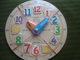 Обучающие часы с вкладышами-цифрами и стрелками