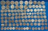 107 монет серебром photo 2