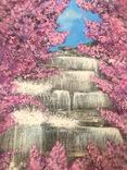 Водопад в цветении. Waterfall in bloom photo 2