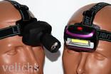 2 налобных фонарика Police BL-6611 и BL 2016 COB одним лотом