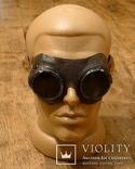 Защитные военные очки с клеймами Люфтваффе. III Рейх. Оригинал.