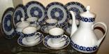 Сервиз тарелки блюдца чашки молочник сахарница Echt Kobalt Weimar Porzellan Германия