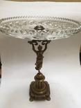 Огромная старинная бронзовая ваза фруктовница