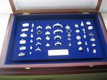 Колекция серебренных амулетов- привесок ч.к. 45шт.