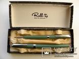 Чернильная ручка + механический карандаш Набор. Англия. Перо Wing-Flow 1 U.S.A.