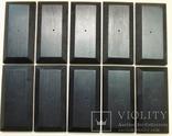 10 шт Подставка для моделей авто масштабом 1:43 Цвет Черный. Материал дерево, фото №2