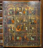 Ікона дванадцяти празників (27х32х3)