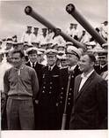 """21 фото.Ю. Гагарин Г. Титов. Крейсер """"М.Кутузов"""" Сентябрь 1961г."""