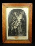"""Гравюра. Рубенс. """"Снятие с креста"""". Середина XIX века. P.Lightfoot. Англия. (0293)"""