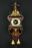 Часы с боем Zaanse Clock. Немецкий механизм Франц Хермле. 1971 год. Голландия. (0301)